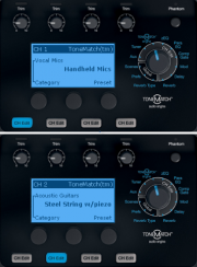 T1 equivalent presets for Compact Channels 1 and 2