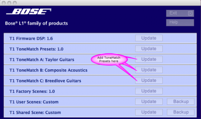 Presets / ToneMatch® / Downloads - Bose Portable PA