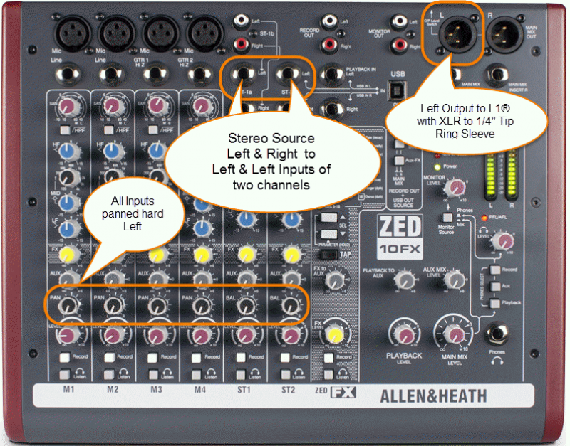 Allen Heath ZED 10-FX web page